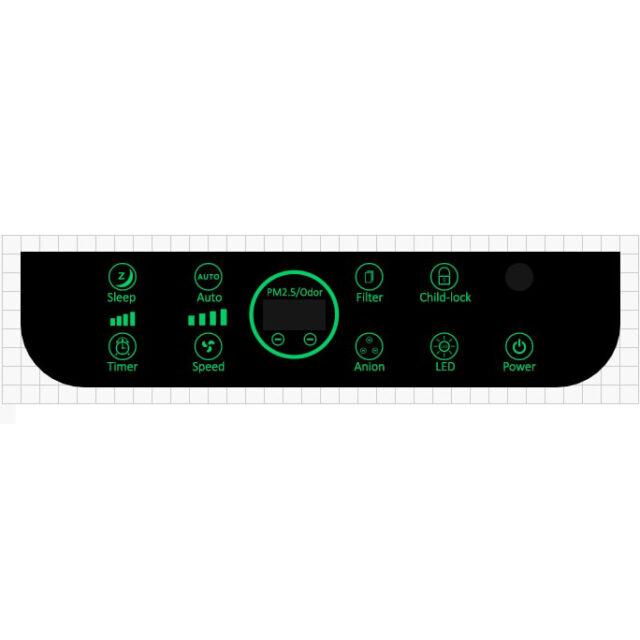 Воздухоочиститель POINT-Five-101 - панель управления
